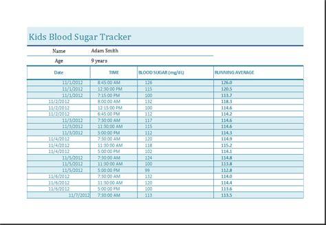 blood sugar template blood sugar tracker template ms excel word excel