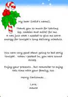 Santa Thank You Letter Template Free Printable Quot Thank You Card Quot From Santa
