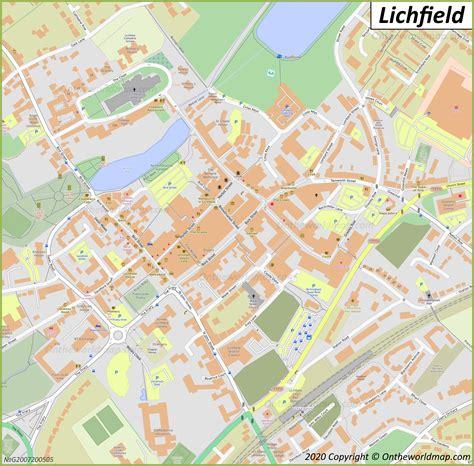 lichfield maps uk maps  lichfield