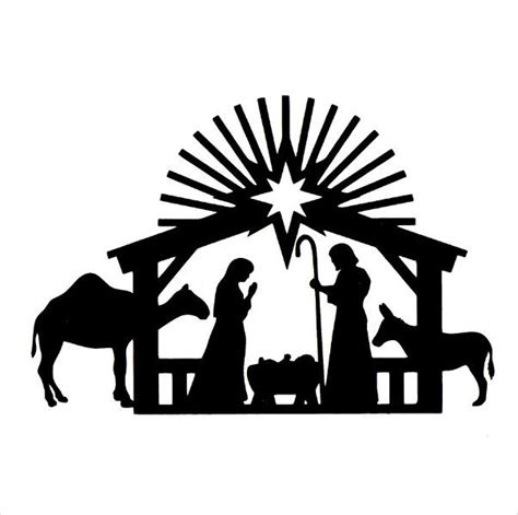 Nativity Scene Silhouette Template At Getdrawings Com Free For Personal Use Nativity Scene Nativity Silhouette Template
