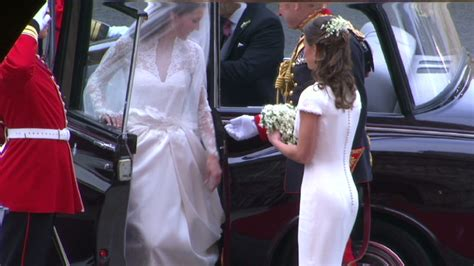 Royal Wedding Kate Arrives At Westminster by William And Catherine In Royal Wedding At
