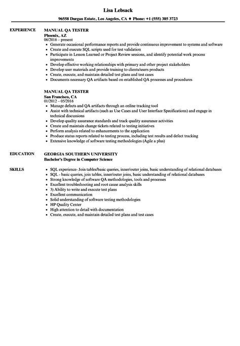 resume samples jr qa tester resume sample