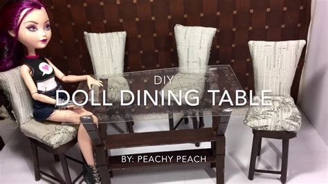 How To Make A Dining by Diy How To Make Easy Doll Dining Table Dollhouse