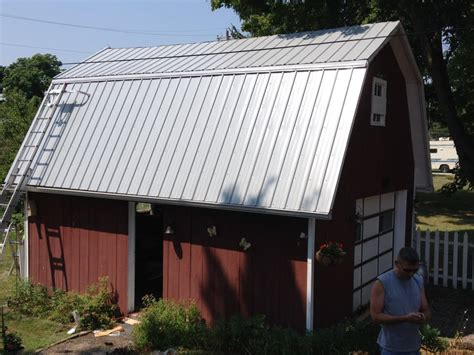 gamble roof pro rib steel gambrel roof barn edgerton ohio jeremykrill