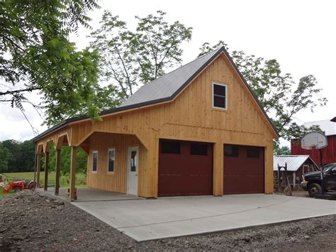 Barn Plan by Custom Built Barn Style Garage