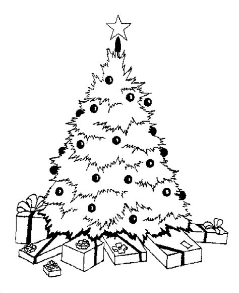 christmas tree with gifts coloring page navishta sketch christmas tree