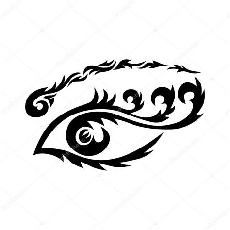 tribal eye tattoos tribal eye stock vector 169 maroshka 96715732