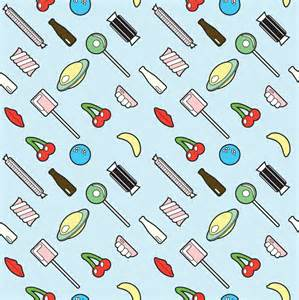 Repeating background pattern retro sweets repeat pattern