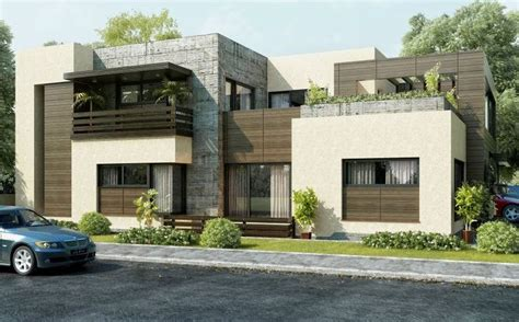 Duplex House Plans With Garage by Fachada Para Casa En Esquina
