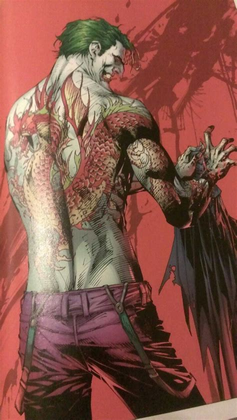 joker dragon tattoo the joker 166 by jim and frank miller comics and