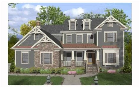2 Story Farmhouse Plans craftsman style homes youtube