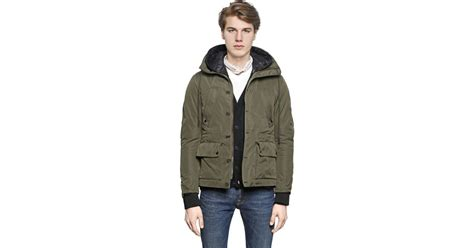Jacket Parka Bahan Canvas golden goose deluxe brand canvas parka jacket in green for lyst