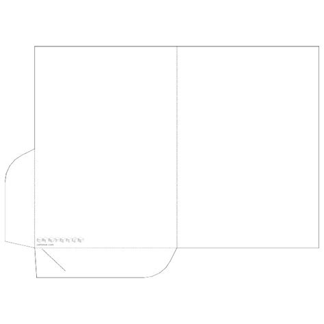folder template pocket folder vector template at vectorportal
