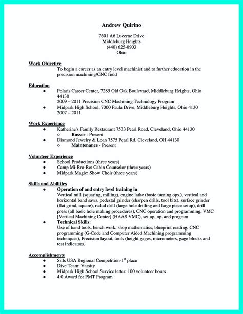cnc machinist resume template writing your qualifications in cnc machinist resume a must