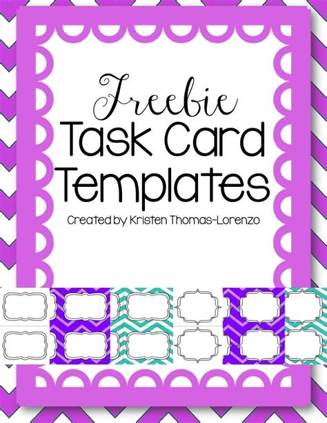 2015 2016 Teacher Binder And Forms Pink Follow Me Free Task Cards And The O Jays Task Card Template