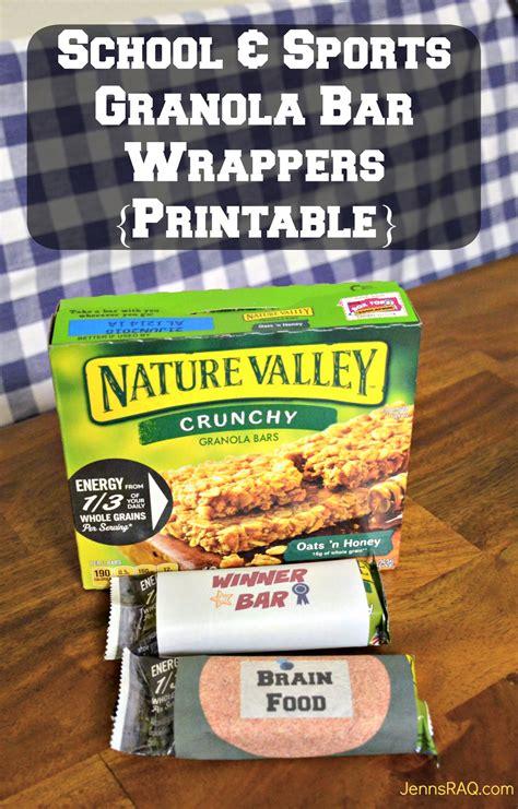 printable granola labels school sports granola bar wrappers printable jenn s raq
