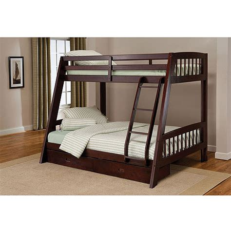 twin over full bunk bed walmart rockdale twin over full bunk bed espresso walmart com