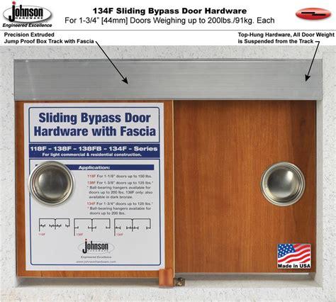 Johnson Hardware Bypass Door by Johnson Hardware 134f Sliding Bypass Door Hardware