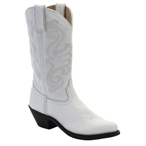 womans white boots s durango 174 11 quot leather western boots white 578116