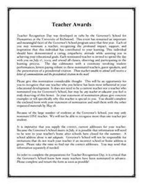 Recommendation Letter Exle Award Recommendation Letter For Award Recommendation Letter