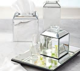mirrored bath accessories pottery barn