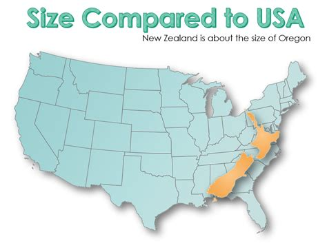 new usa how big is new zealand compared to usa about new zealand