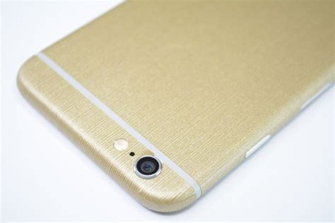 Iphone 6 6s Plus Premium Brushed Skins iphone 6s plus brushed gold skin wrap easyskinz