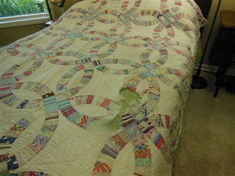 Handmade Wedding Ring Quilts For Sale - bluebird gardens quilts and gifts
