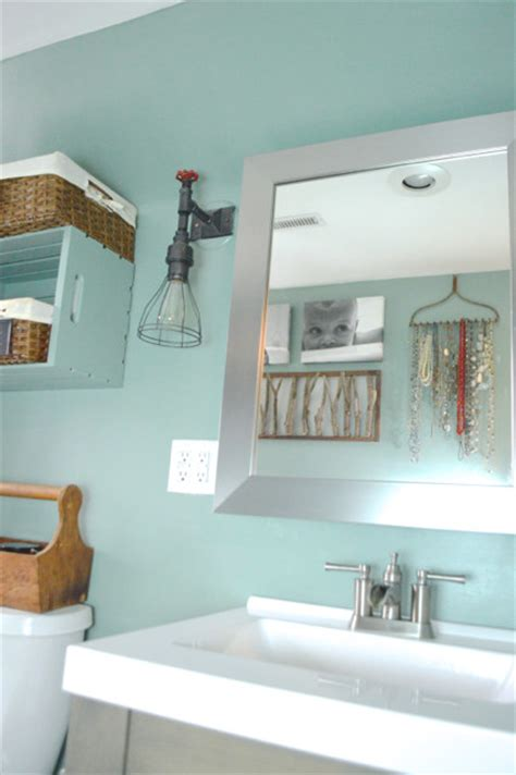 bathroom update in modern mint behr color trends giveaway newlywoodwards