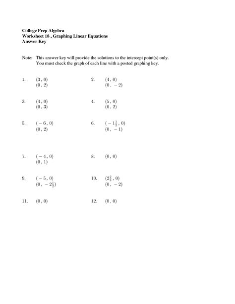 printable math worksheets linear equations 16 best images of college math worksheets college