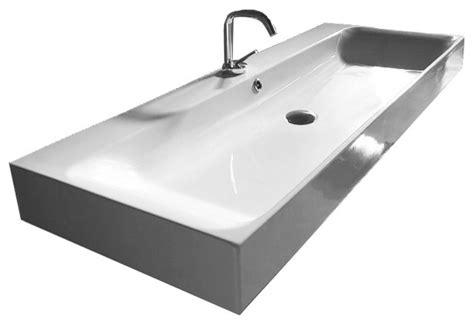 large bathroom sink 47 quot large contemporary wall mounted vessel ceramic