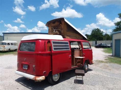 vw westfalia camper montana red  original  owner    sale volkswagen bus