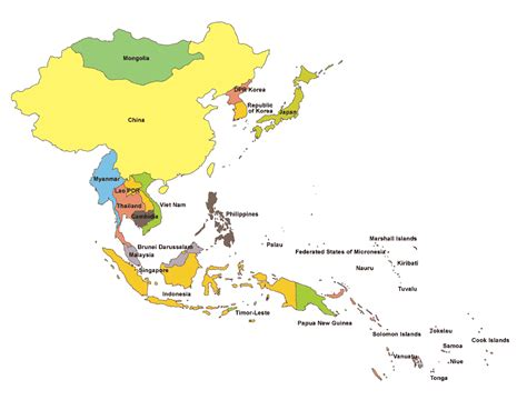 regional map of asia unicef eapro overview unicef east asia and pacific