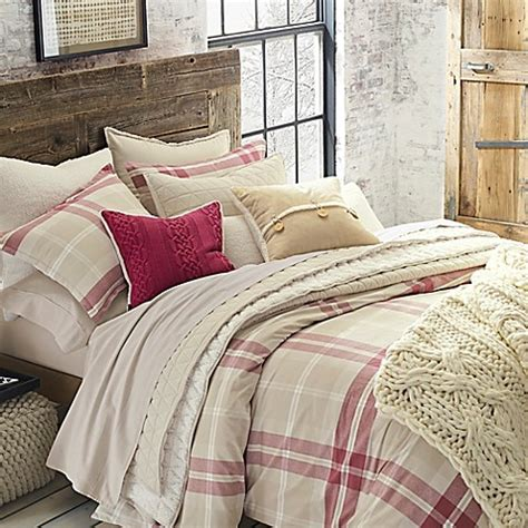 ugg monterey plaid chambray reversible comforter set bed bath