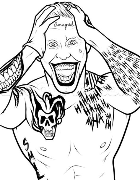 Joker Coloring Pages Suicide Squad Coloringstar The Joker Coloring Pages