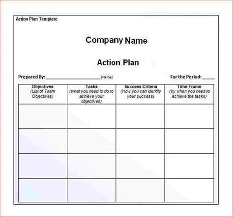 action plan template business proposal templated