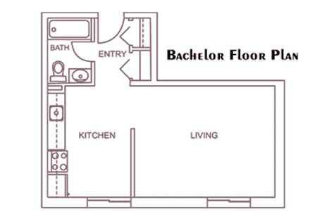 1 Bedroom Home Floor Plans by Apartment Layouts