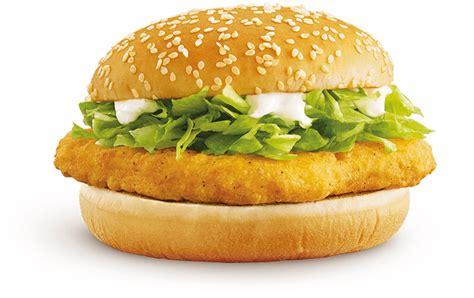 Mac Chicken a of a with a mcchicken sandwich has