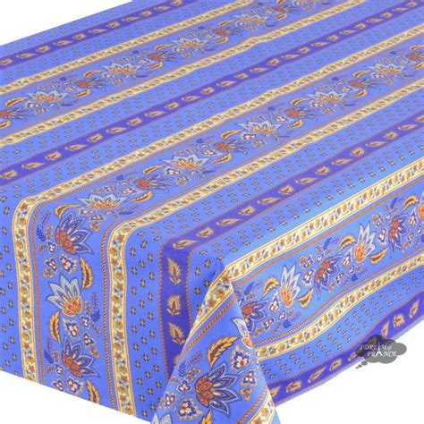 Claude De Solene 4038 60x 96 quot rectangular blue cotton coated country