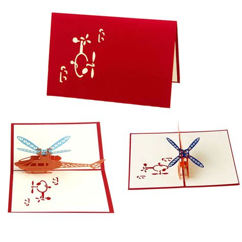 pop  helicopter jet airplane greeting cards happy birthday merry christmas ebay
