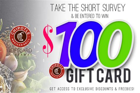Chipotle Gift Card Special - sweepscity 100 chipotle gift card expired freestuff com