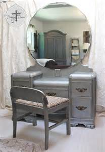 Vintage Vanity Table With Mirror For Sale Vintage Deco Waterfall Dressing Table Vanity With Bench