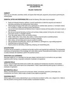 sle welder resume free resume sles for welders ebook database