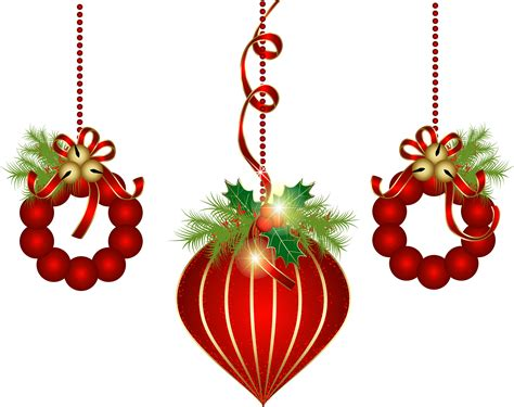 hanging christmas ornaments clip art holiday scrapbook