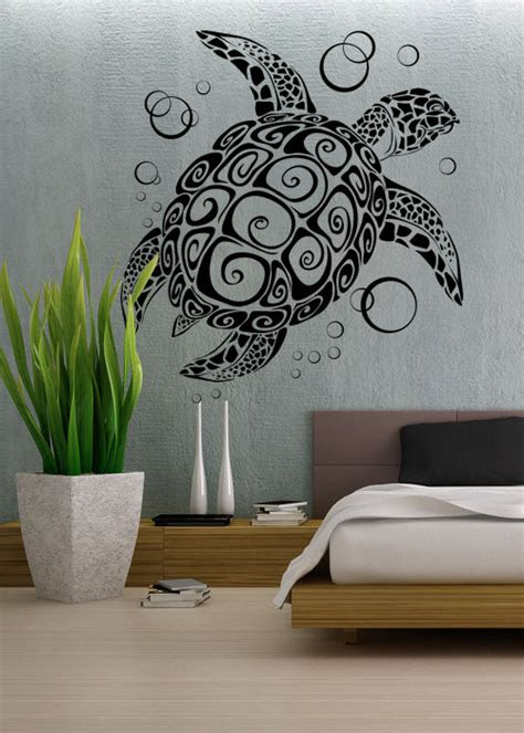 turtle wall stickers sea turtle uber decals wall decal vinyl decor by