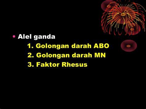 Serum Golongan Darah genetik golongan darah