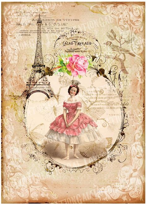 Decoupage Vintage - 5x7 printable digital images vintage