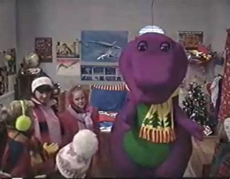 barney and the backyard gang waiting for santa image barney waiting for santa jpg barney wiki wikia