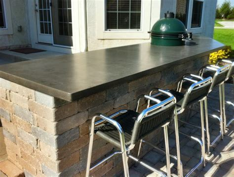 Outdoor Concrete Bar Top by 1000 Images About Bar Project Phase 3 On Bar