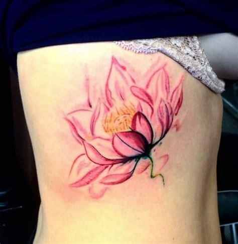 watercolor tattoo ribs best 25 lotus ideas on lotus